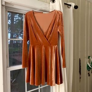Rose Gold Velvet Party/Cocktail Dress